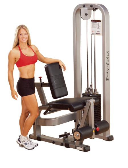 Figure B: Note unrealistic fitness ideal posing next to torture device. This tactic is similar to the deceptive practice of strategically posing attractive women on sports cars.